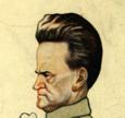 Wisconsin senator Robert LaFollette caricature mug