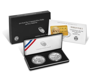 Navy service coin set