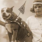 Sgt. Stubby publicity shot with girl