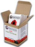 Poppy kits with red flower