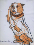 Stubby statue drawing