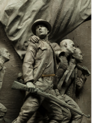Memorial sculpture detail