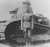 George Patton with Renault tank