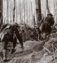 Marines maneuver during the Meuse Argonne