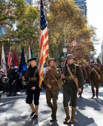 Doughboy color guard NYC parade 11112018