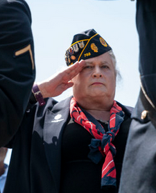 Jennifer Pritzker salutes