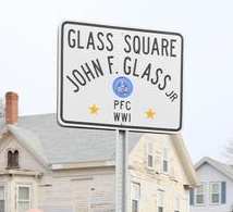 Glass Square sign
