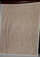 Soldier's letter for transcription