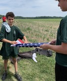 Scouts folding flags
