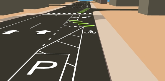 Example of a bike lane design