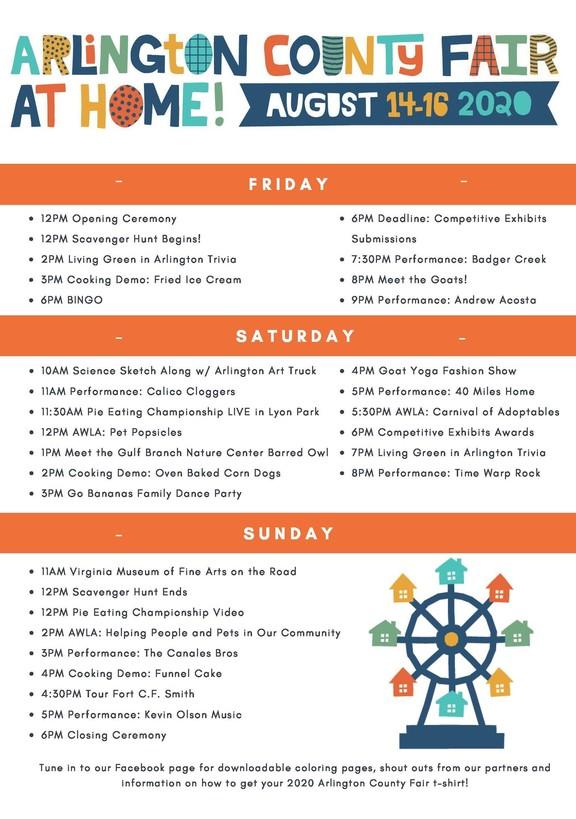 Virtual Fair Schedule