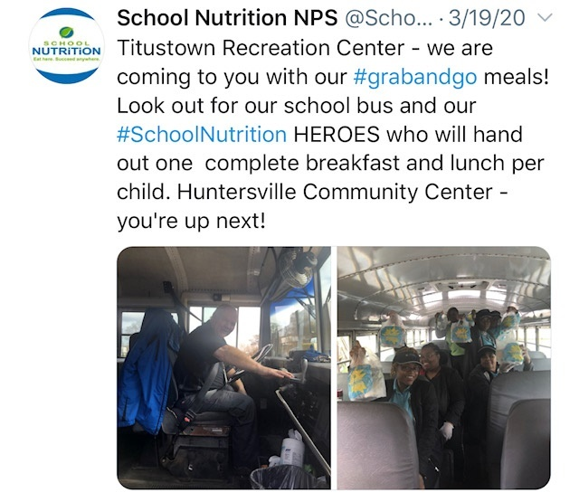 NPS School Lunch Heroes Meal Delivery