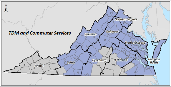 TDM and Commuter Services Map 2