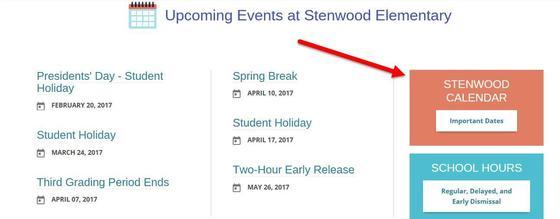 Stenwood Calendar