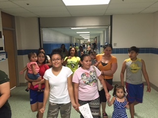 families at Stuart resource fair