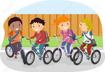 Kids on bicycle