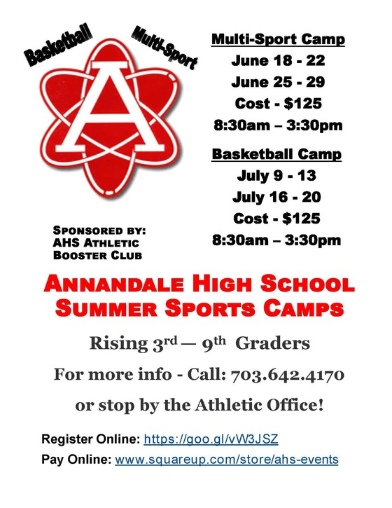 AHS Summer Sports Camps