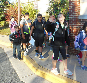 Lemon road ES walk to school day!
