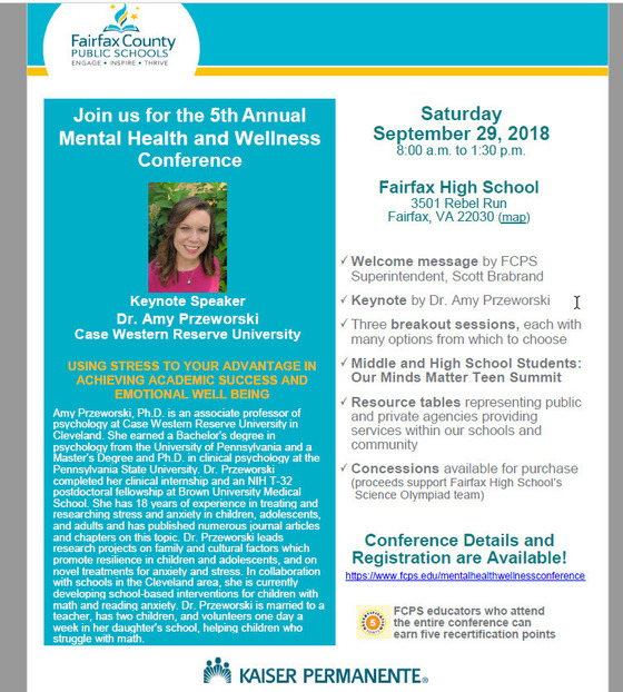 FCPS Mental Health and Wellness Conference