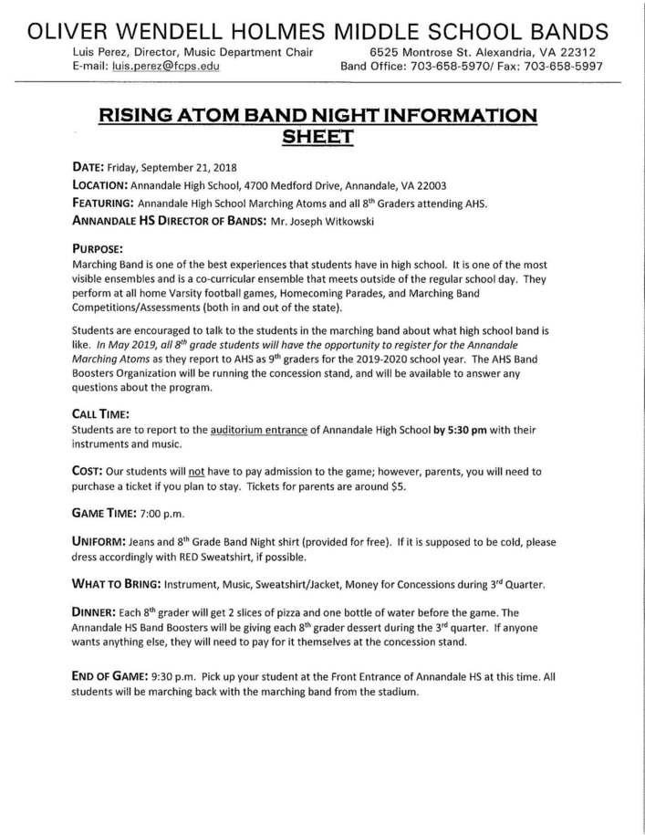 Rising Atoms Band Night