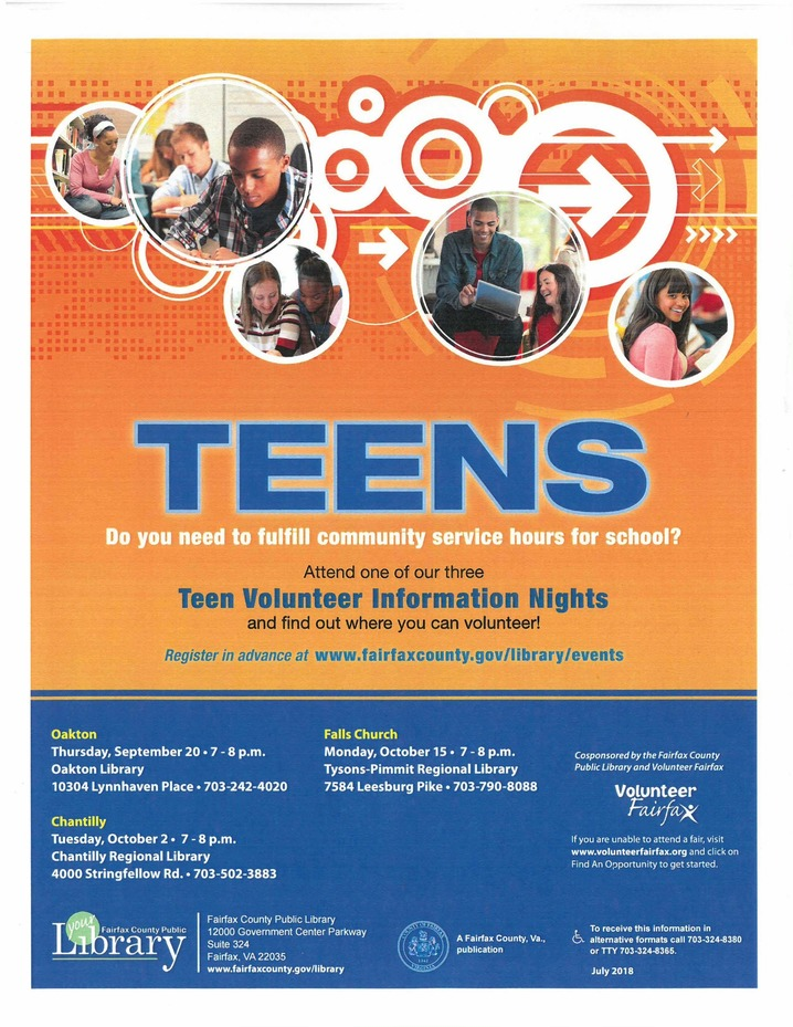 Teen volunteer nights