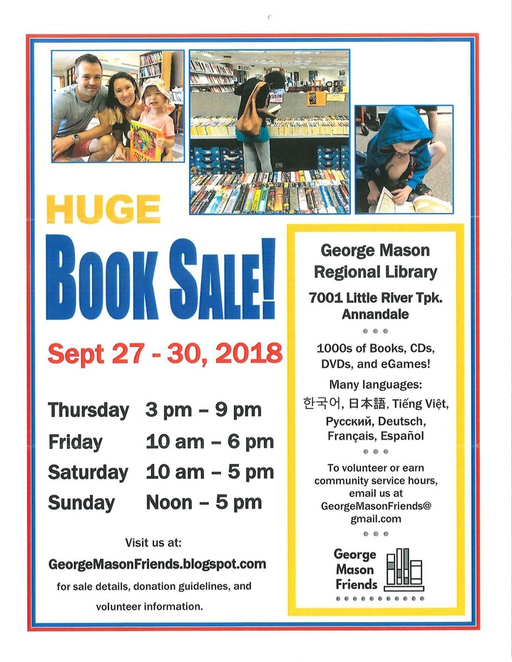 George Mason Region Library Book Fair