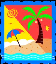 illustration of a beach