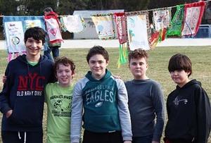 Burke school peace flags