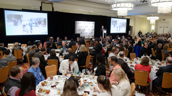 full room at luncheon