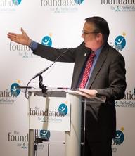 Dr. Brabrand at podium