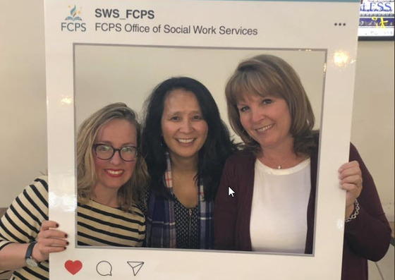 three social workers for National Social Work Month