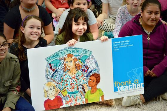 Reston 5th grader becomes elementary school winner in statewide Thank a Teacher Art Contest