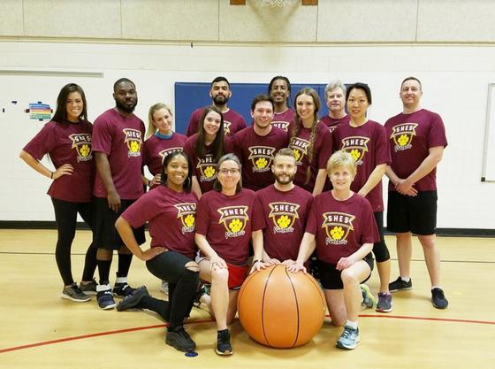 Spring Hill ES staff basketball team