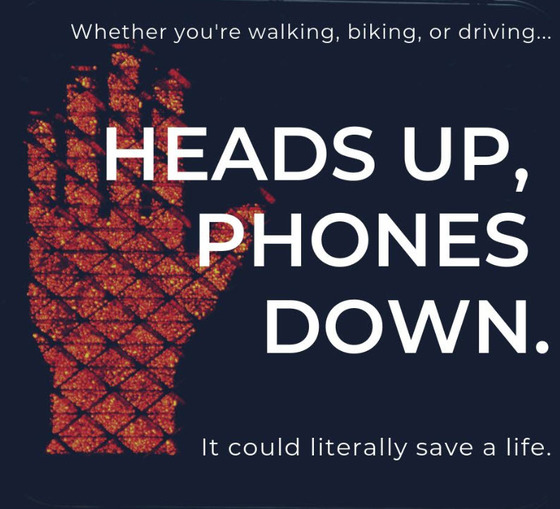 "Fairfax County Police image ""Heads Up, Phones Down"""