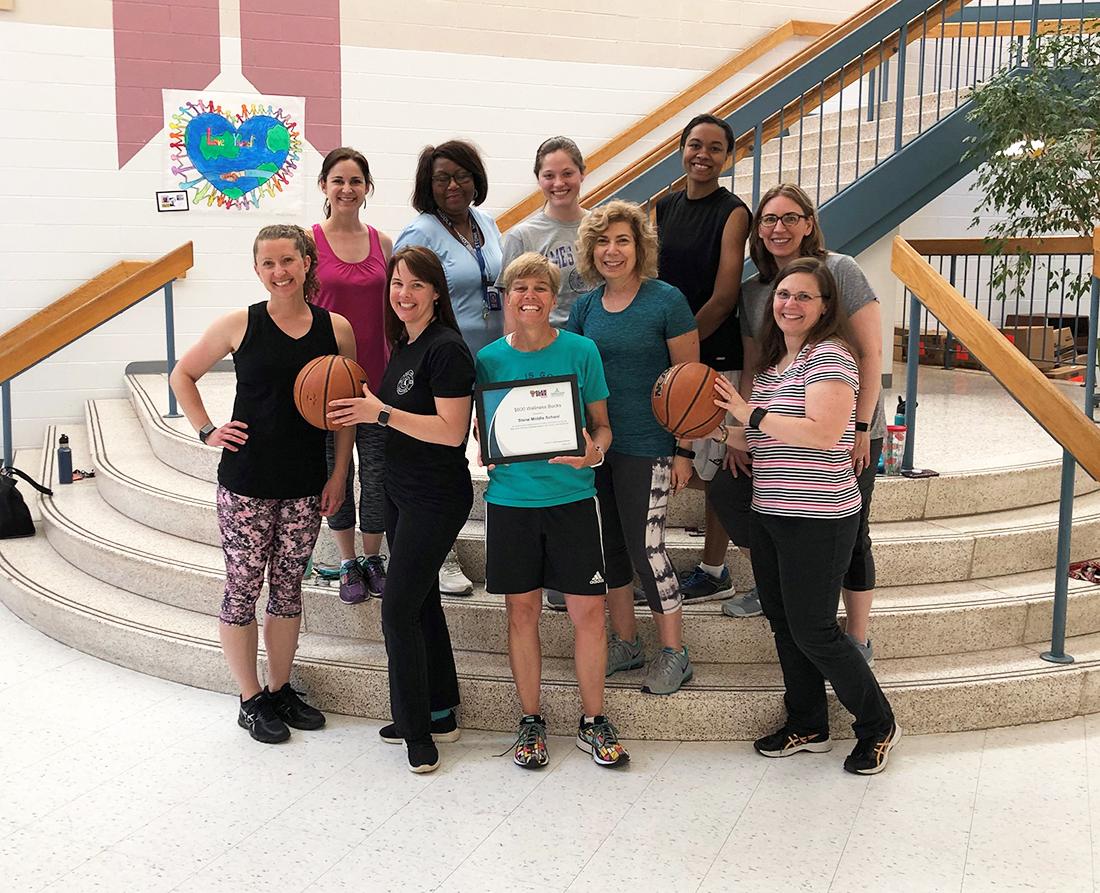 Stone MS winners of Slam Dunk Wellness Challenge