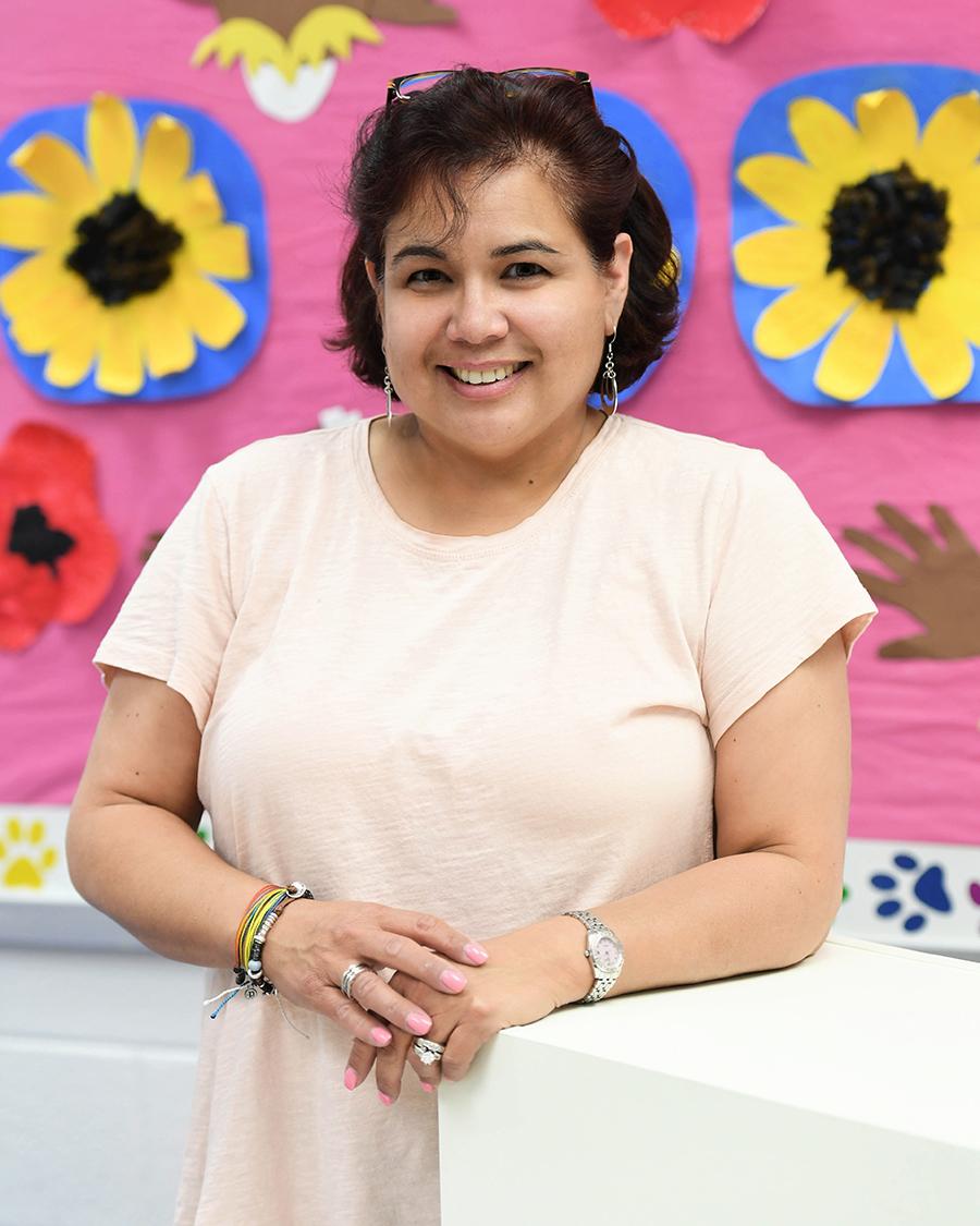 Maria Filgueira, multiple disabilities teacher, Lees Corner ES