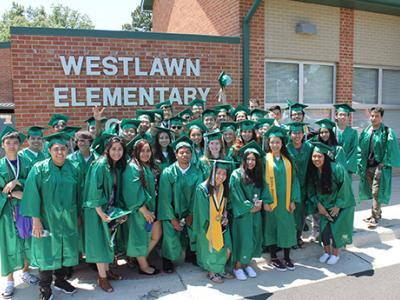 Westlawn ES students who are graduating from HS