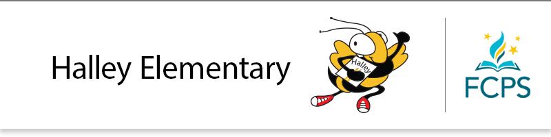 Halley Elementary School banner