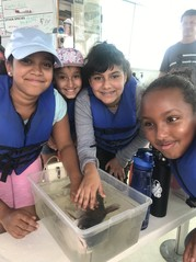 Forestdale ES school students toured the Chesapeake Bay