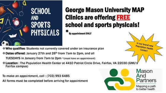 GMU Free Physicals Flyer
