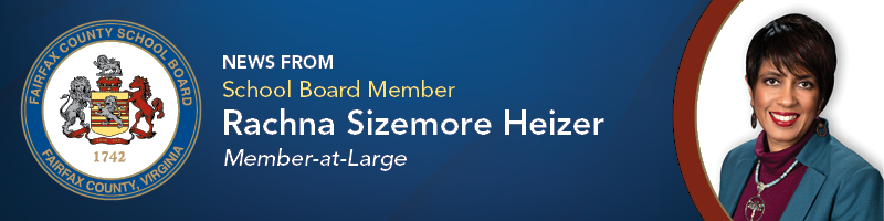 Header, At Large School Board Member Rachna Sizemore Heizer