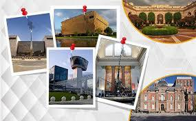 different snap shot photos of museums in DC
