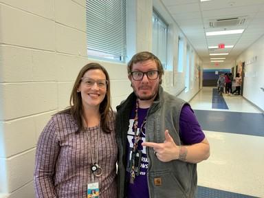 School Board Member Melanie Meren and Teacher
