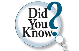Did You Know in big Blue letters with a Question mark