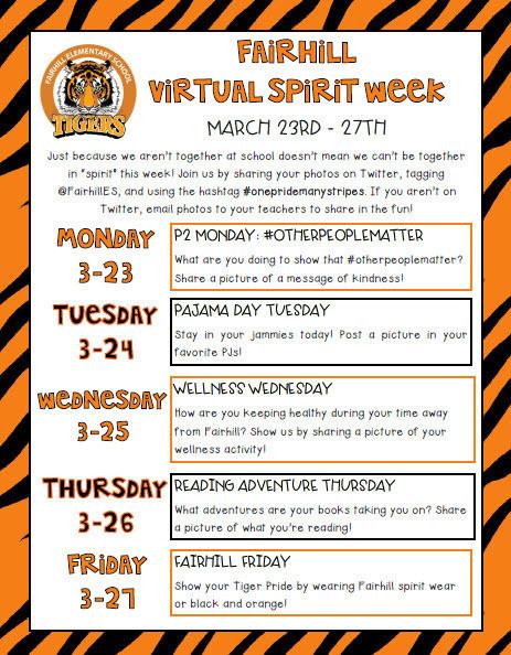 virtual spirit week