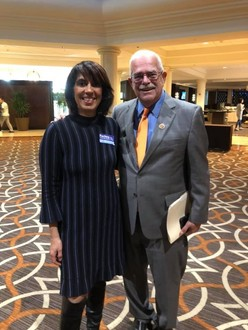 FCPS School Board Member-at-Large Rachna Sizemore Heizer with Congressman Connolly