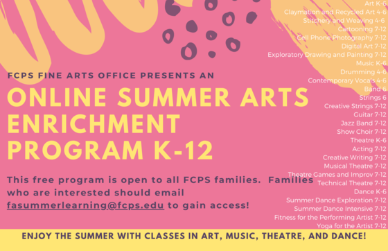 Fine arts summer program