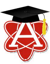 Atom with Grad Cap