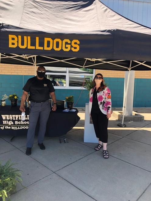 Melanie Meren visits Westfield HS for graduation activities