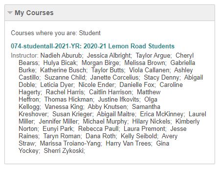 Lemon Road Students Site